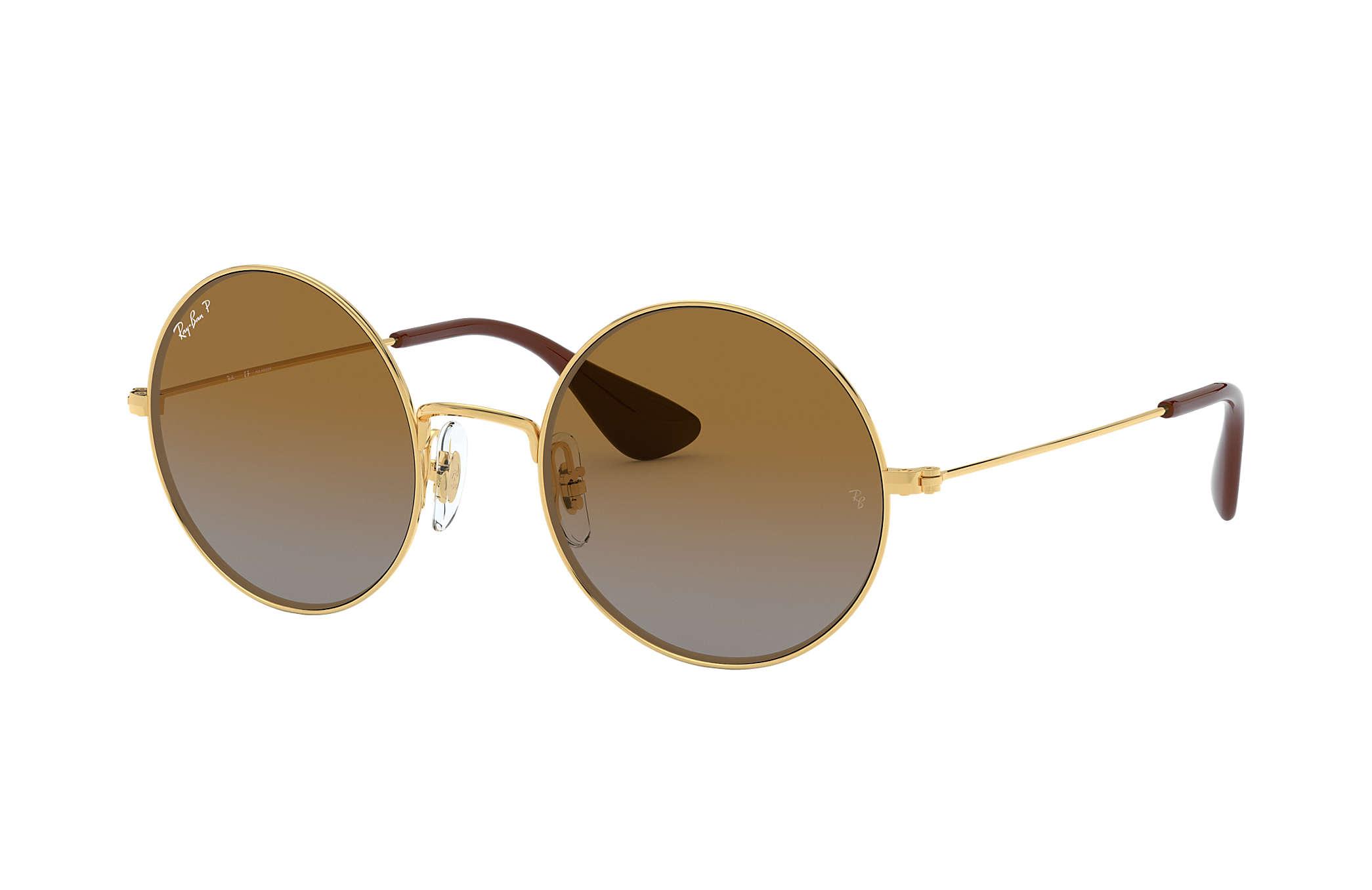 0871142c0 Ray-Ban Ja-jo RB3592 Gold - Metal - Brown Polarized Lenses ...