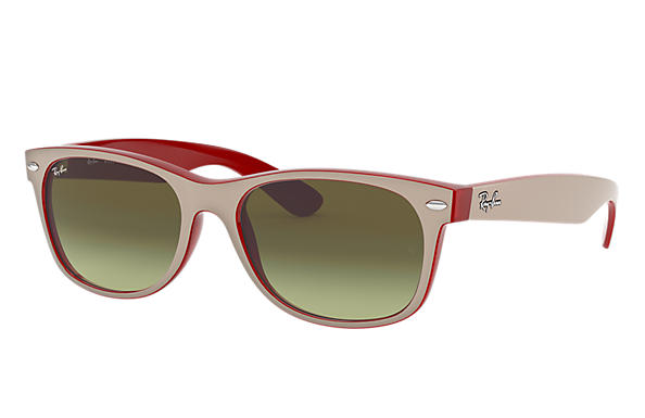 Ray-Ban 0RB2132-NEW WAYFARER COLOR MIX Hellbraun,Rot SUN