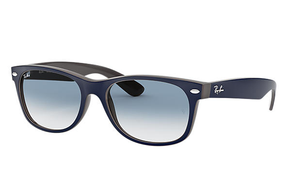 Ray-Ban 0RB2132-NEW WAYFARER COLOR MIX Bleu,Marron SUN