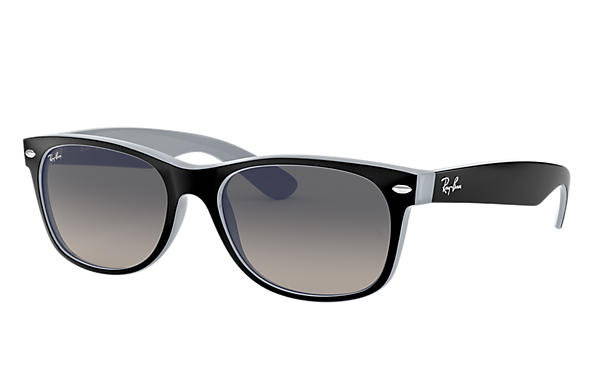 Ray-Ban Sunglasses NEW WAYFARER MATTE Black with Grey Gradient lens