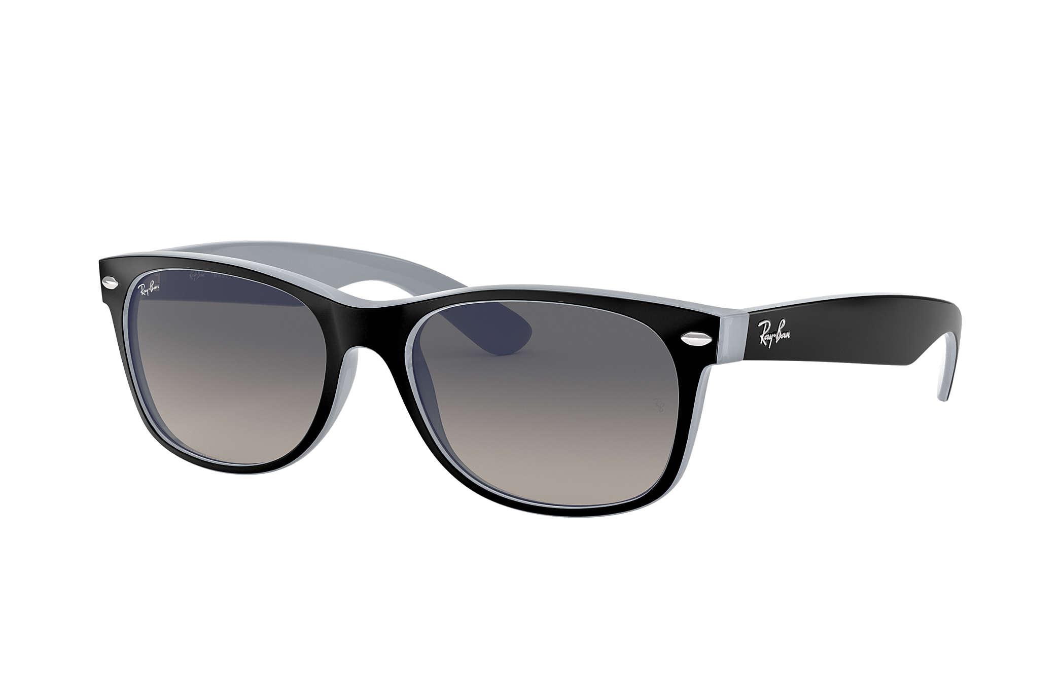 098fb41ee3 Ray-Ban New Wayfarer Color Mix RB2132 Black - Nylon - Grey Lenses ...