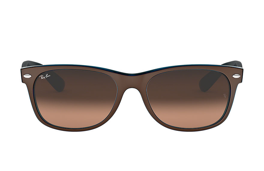 Ray-Ban  lunettes de soleil RB2132 UNISEX 004 new wayfarer color mix marron 8053672788709