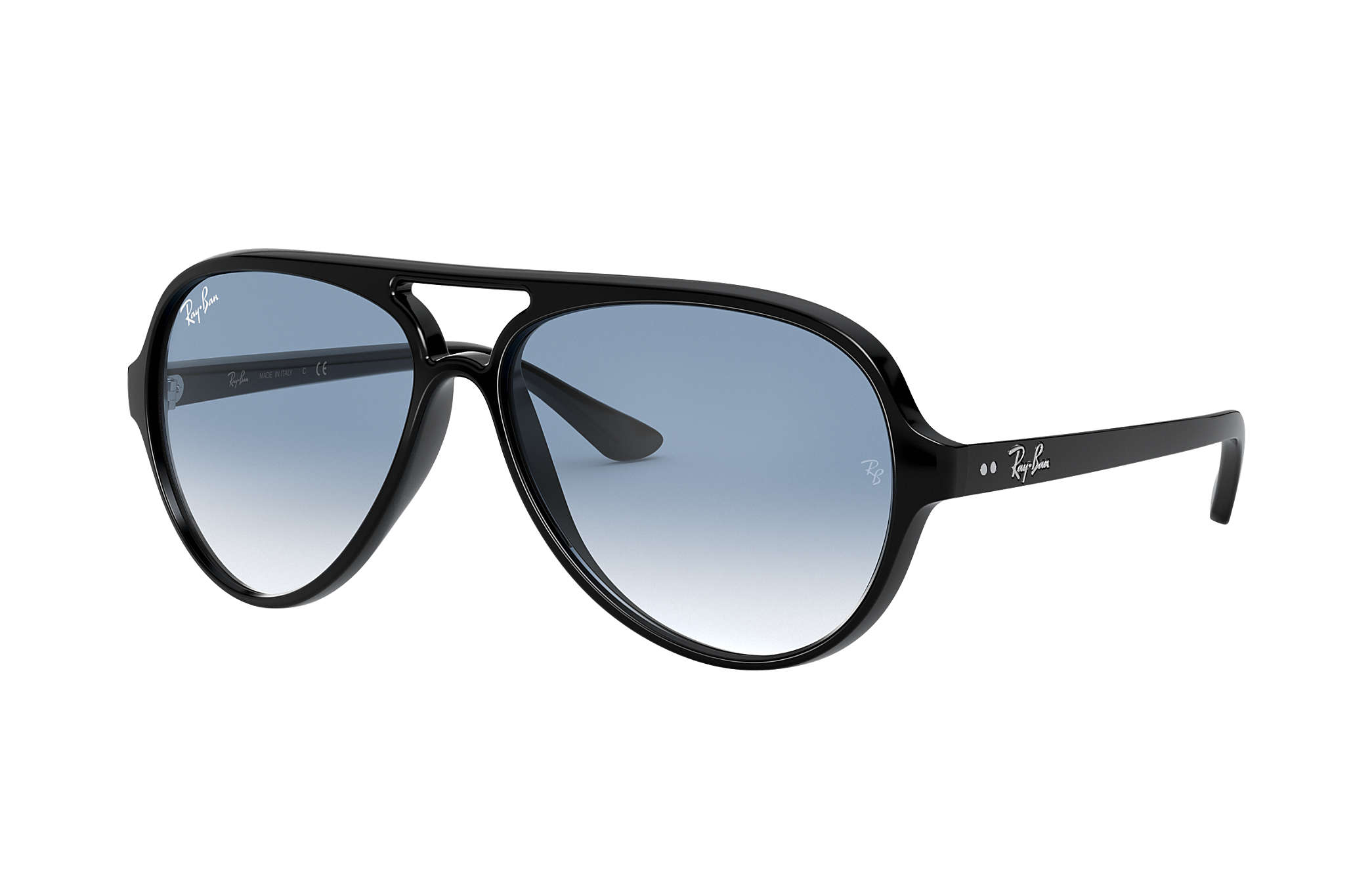 5dce730ab1 Cats 5000 Classic Ray-Ban RB4125 Noir - Injected - Verres Bleu clair ...
