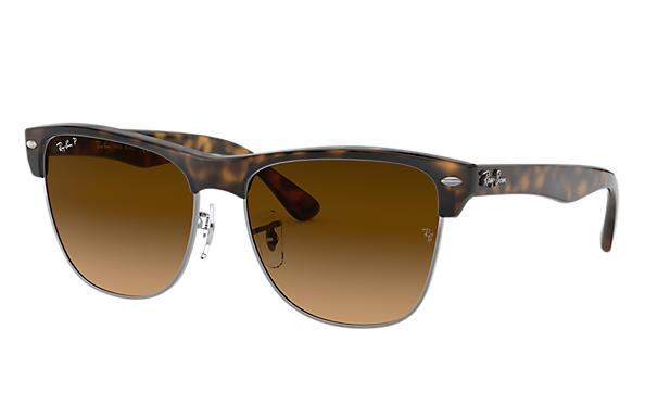 Ray-Ban CLUBMASTER OVERSIZED Tortoise with Brown Gradient lens