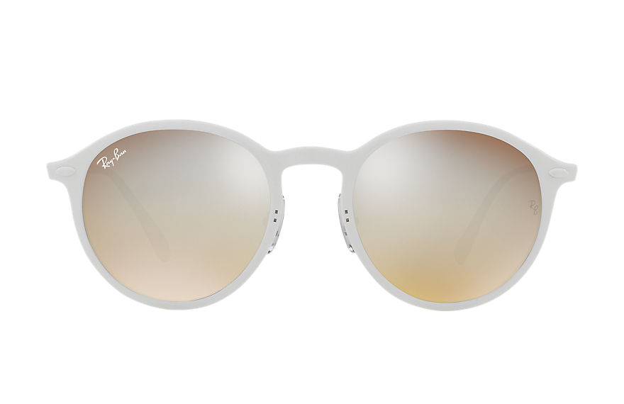 Ray-Ban ROUND LIGHT-RAY Klar mit Silber Gradient Flash Gläsern