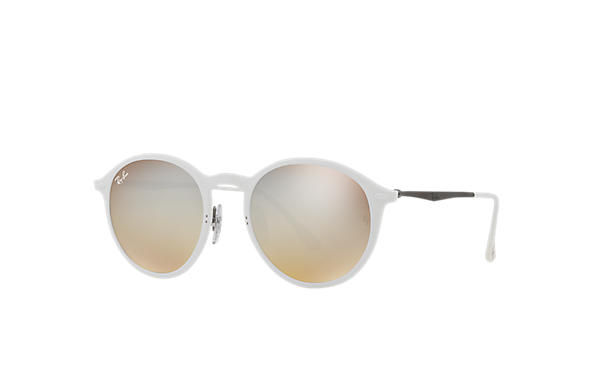 Ray-Ban		 ROUND LIGHT-RAY Wit met brillenglas Zilver Gradiënt Flash