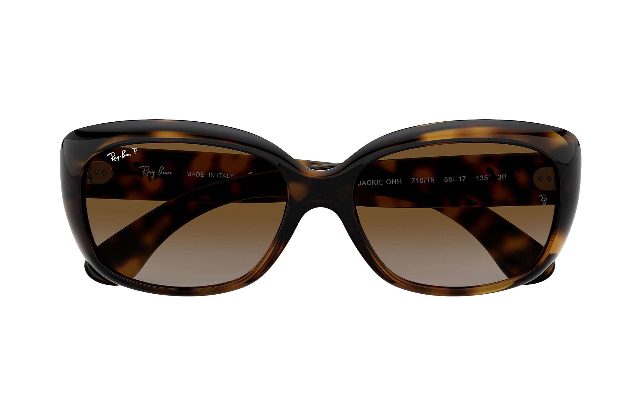 a253f4c5c9ad9 Ray-Ban Jackie Ohh RB4101 Tortoise - Nylon - Brown Polarized Lenses ...