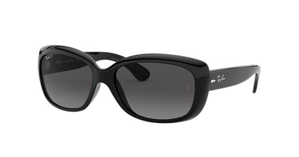 77ef15de56 Ray-Ban Jackie Ohh RB4101 Black - Nylon - Grey Polarized Lenses -  0RB4101601 T358
