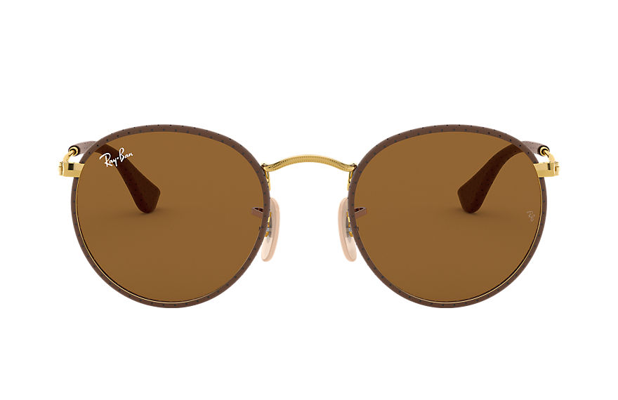 Ray-Ban  gafas de sol RB3475Q UNISEX 002 round craft marrón 8053672790146
