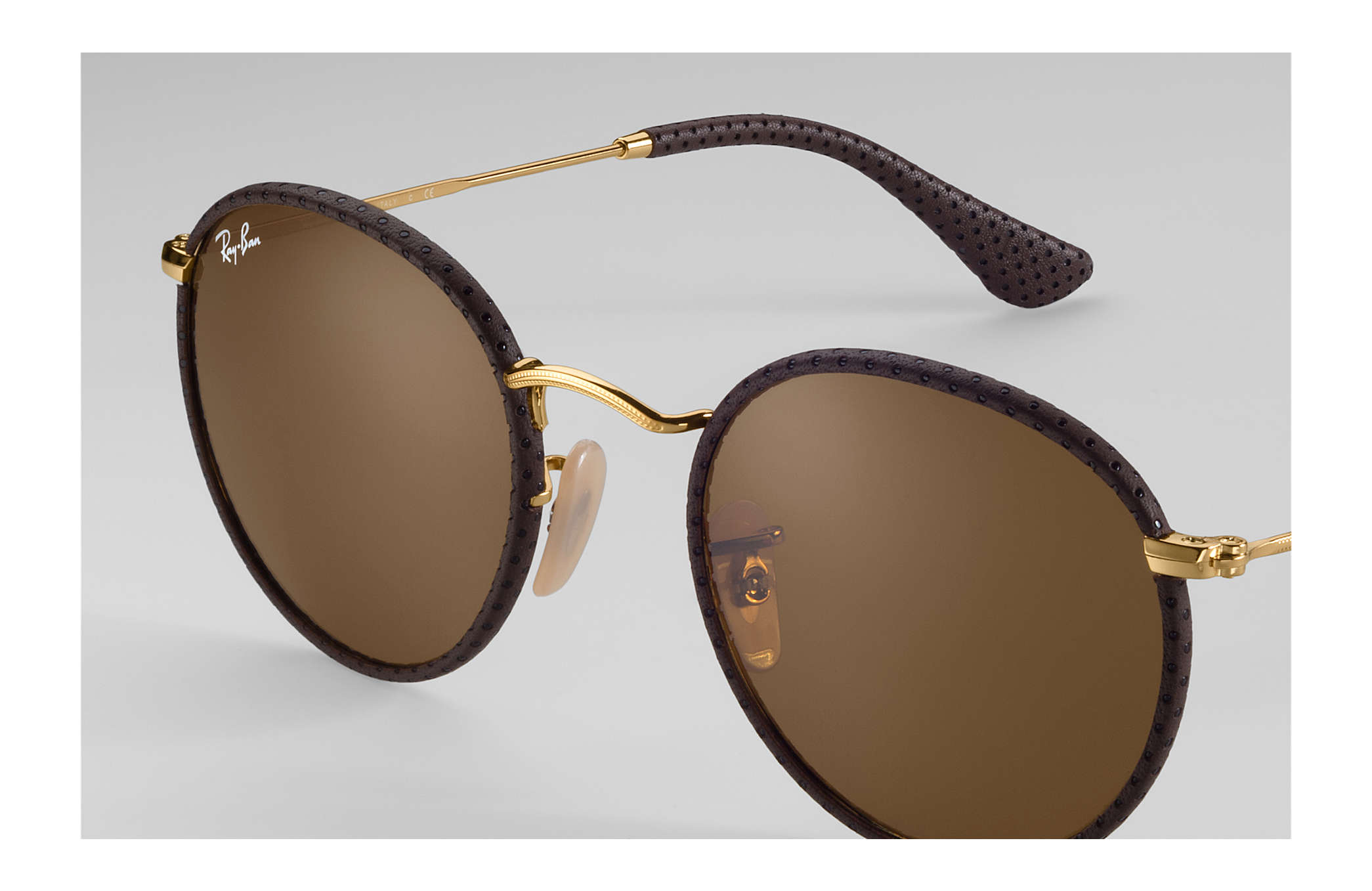 6c31dadf6de81b Ray-Ban Round Craft RB3475Q Brown - Metal - Brown Brillenglazen ...