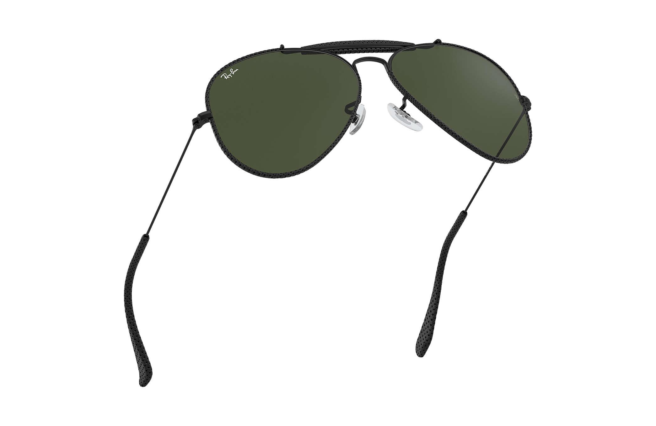 a3524aae4b3 Ray-Ban Outdoorsman Craft RB3422Q Black - Metal - Green Lenses ...
