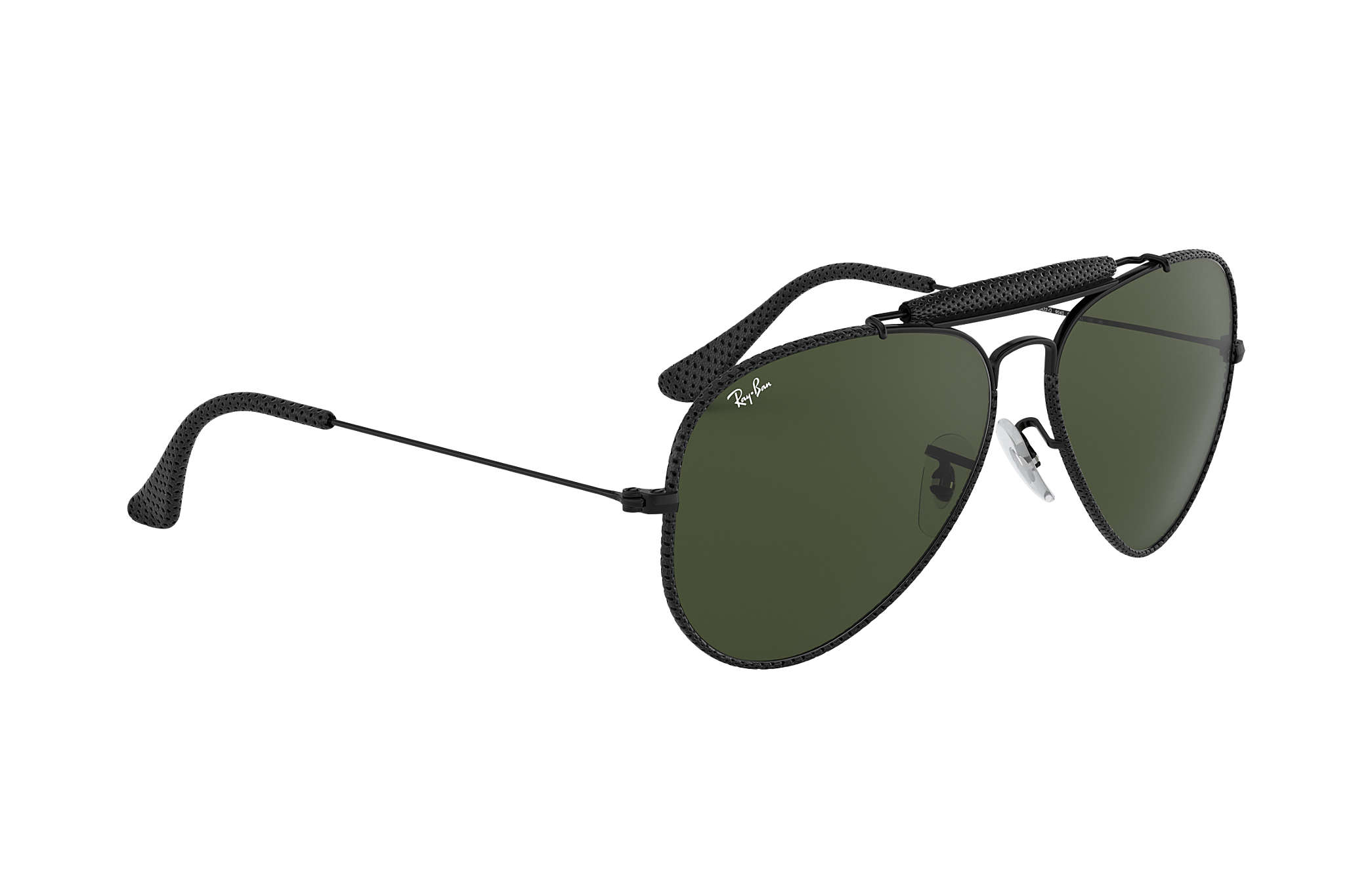 5182f16f6b Ray-Ban Outdoorsman Craft RB3422Q Black - Metal - Green Lenses ...