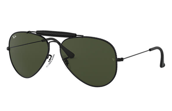 Ray-Ban 0RB3422Q-OUTDOORSMAN CRAFT Black SUN