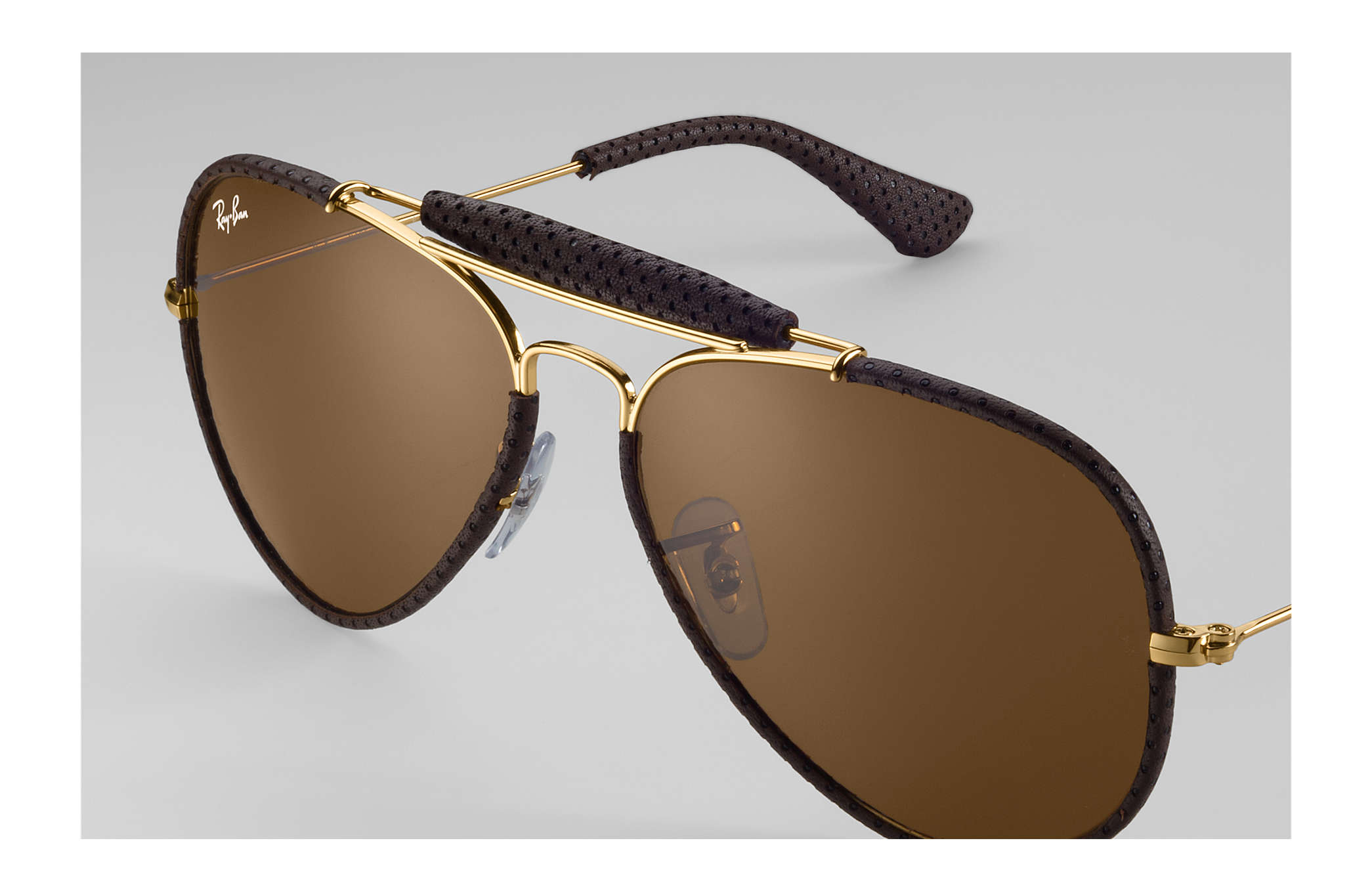 72cc548b1e Ray-Ban Outdoorsman Craft RB3422Q Brown - Metal - Brown Lenses ...