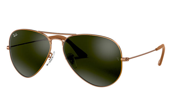 a00df3eb1c9d Ray-Ban Aviator  collection RB3025 Gold - Metal - Blue Gray Lenses ...