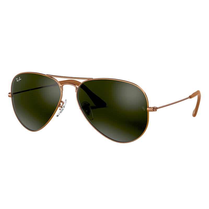 Ray Ban Aviator @Collection Copper Sunglasses, Gray Lenses Rb3025