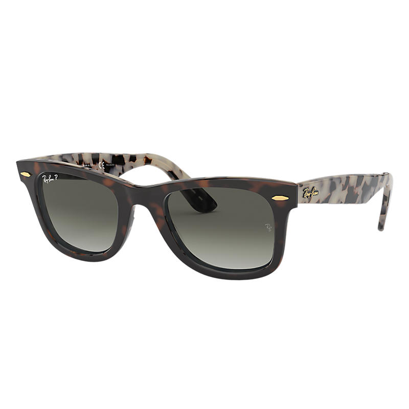 Ray-Ban Original Wayfarer @Collection Blue Sunglasses, Polarized