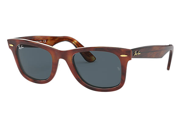 Ray-Ban Sunglasses Original Wayfarer @Collection Tortoise with Blue/Gray Classic lens