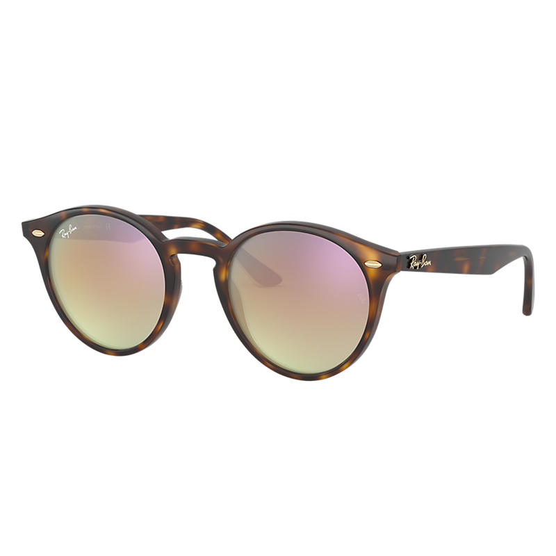 Ray Ban @Collection Tortoise Sunglasses, Pink Lenses Rb2180