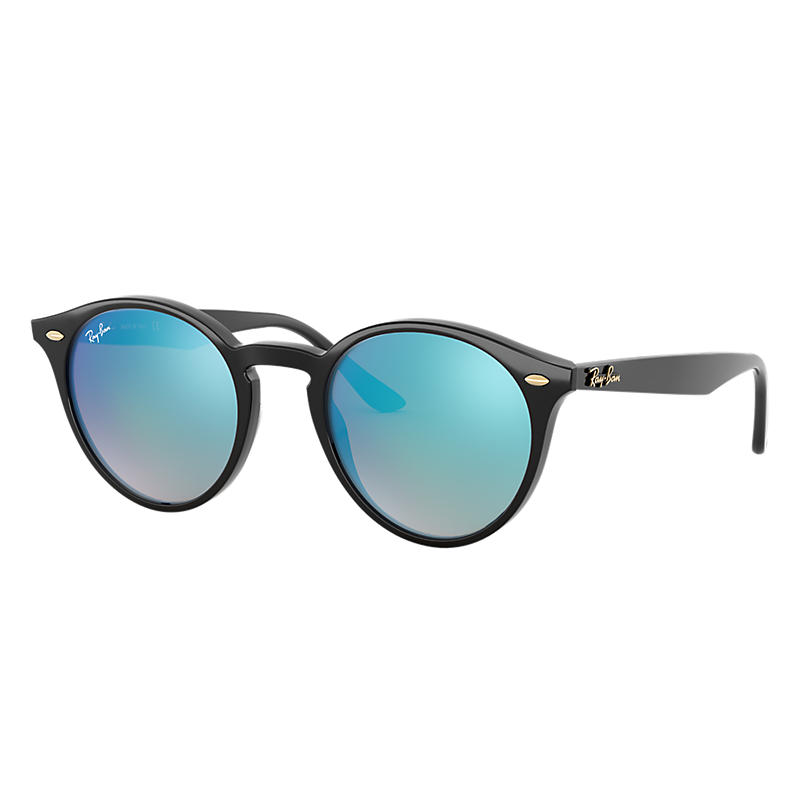 Ray Ban @Collection Black Sunglasses, Blue Lenses Rb2180