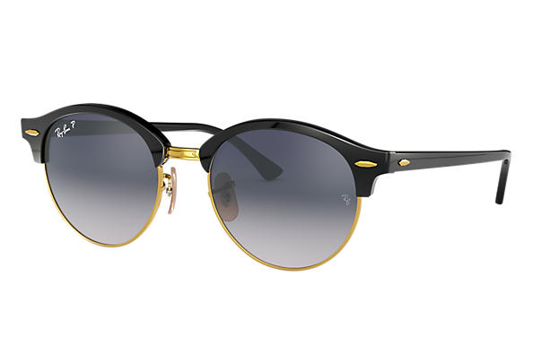 Ray-Ban Sunglasses CLUBROUND @COLLECTION Black with Blue/Grey Gradient lens