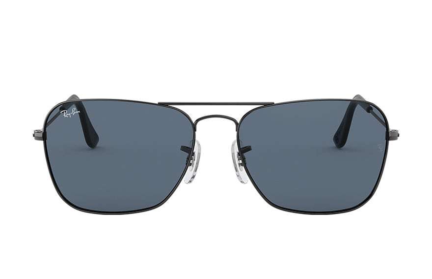 Ray-Ban Sunglasses CARAVAN @Collection Gunmetal with Blue/Gray Classic lens