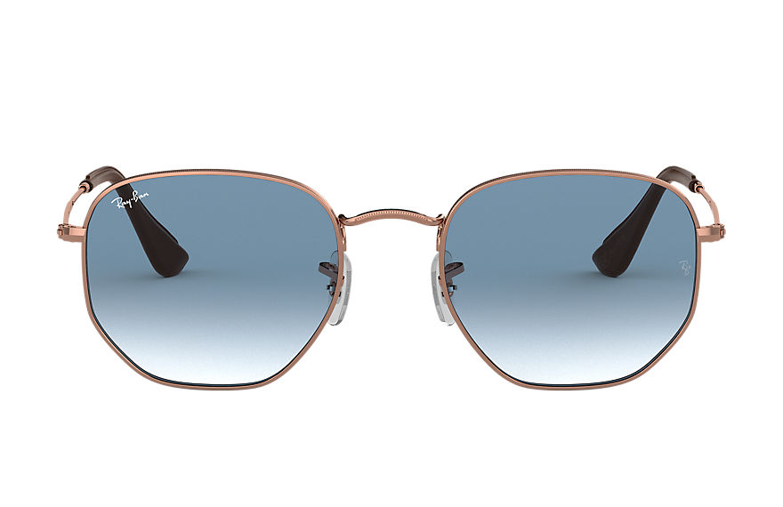 Ray-Ban  sunglasses RB3548N UNISEX 003 hexagonal online exclusive polished bronze copper 8053672791747