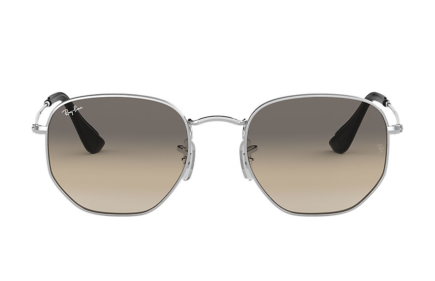 Ray-Ban  occhiali da sole RB3548N UNISEX 002 hexagonal online exclusive argento 8053672791778