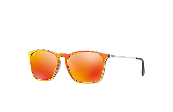 Ray-Ban 0RB4187-CHRIS Orange; Silver SUN