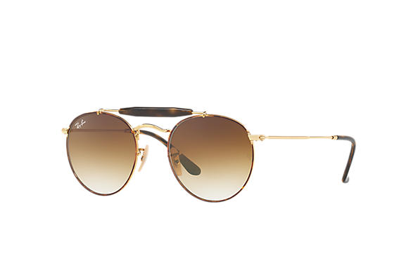 Ray-Ban 0RB3747-RB3747 Tortoise,Gold; Gold SUN