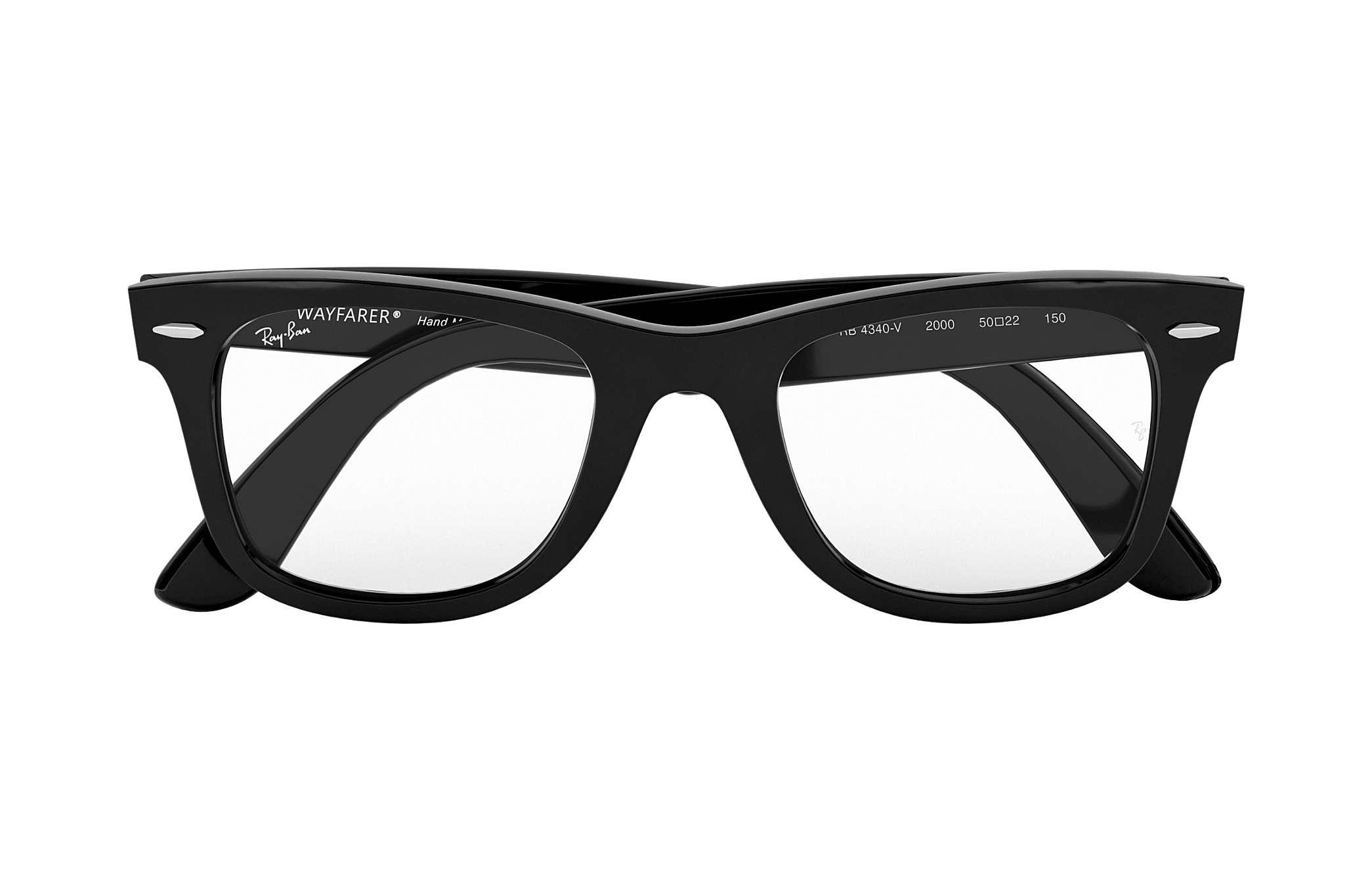 9d69d5938f0 Ray-Ban prescription glasses Wayfarer Ease Optics RB4340V Black ...
