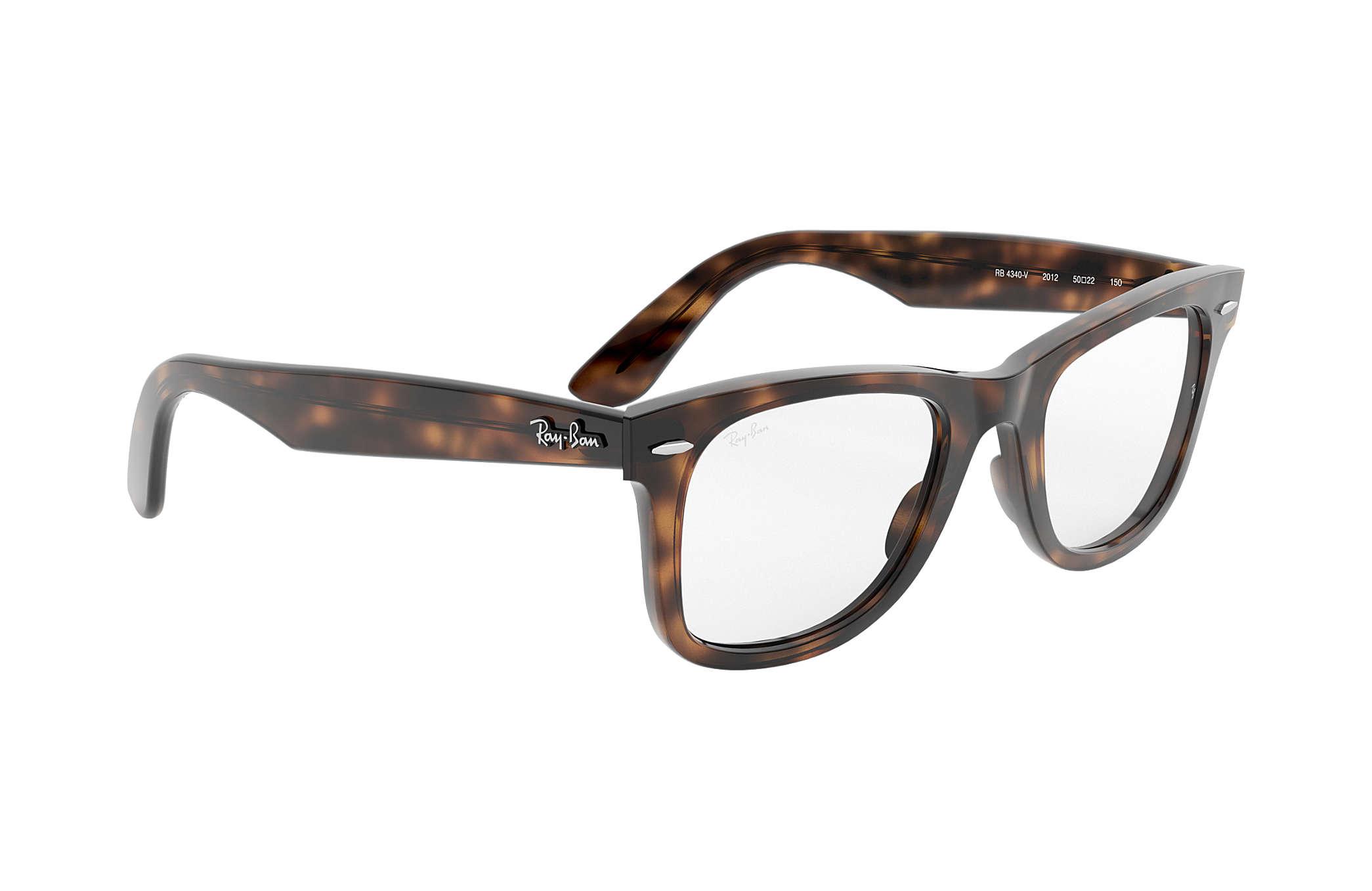 801b66584b Ray-Ban prescription glasses Wayfarer Ease Optics RB4340V Tortoise ...