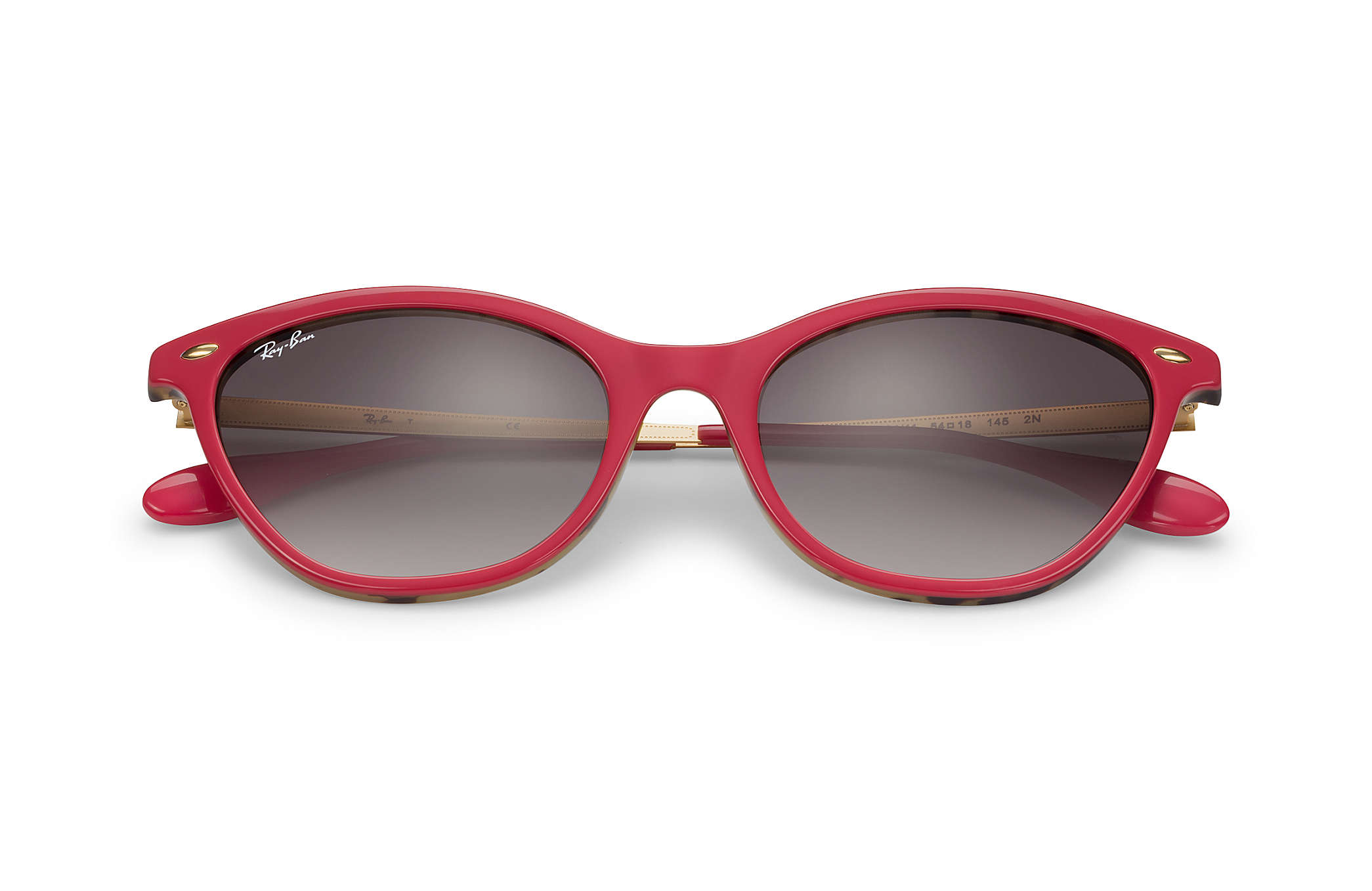 Ray-Ban RB4360 Red - Acetate - Grey Lenses - 0RB436012341154  ef0e2dc0ba3