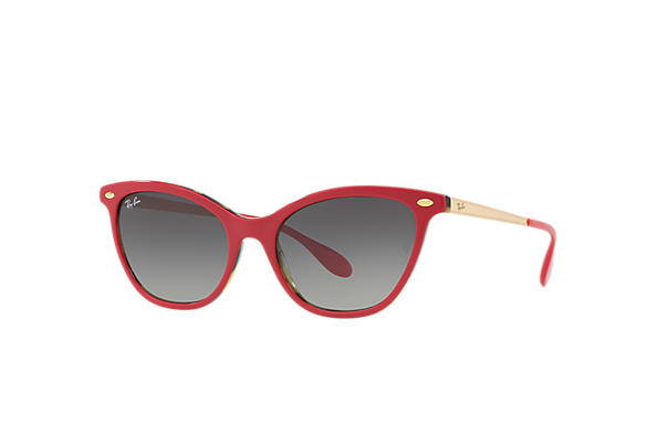 Ray-Ban 0RB4360-RB4360 Red,Tortoise; Gold SUN
