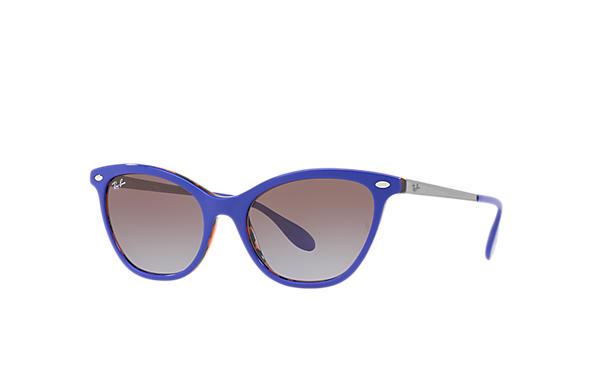 d3464be311 Ray-Ban RB4360 Azul - Acetato - Lentes Marrón Violeta ...