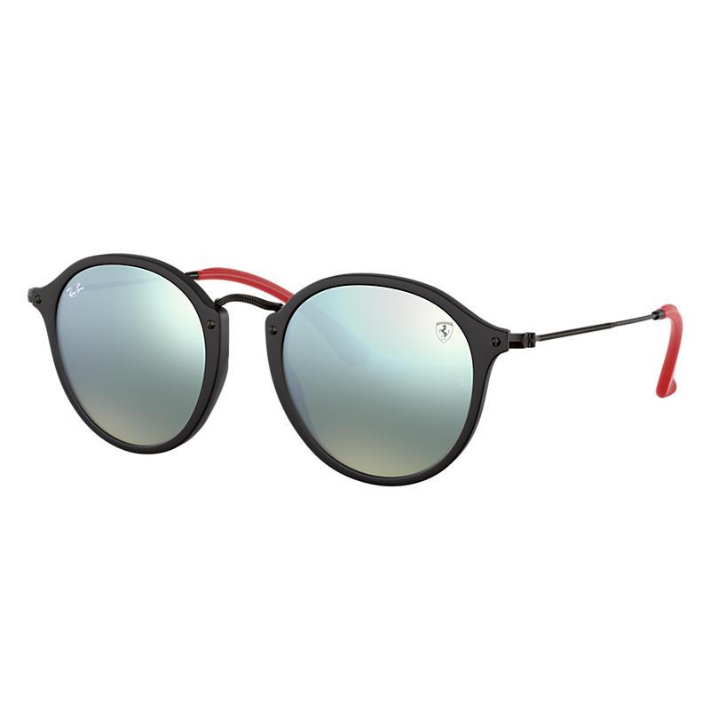 Ray-Ban Scuderia Ferrari Collection Black Sunglasses, Gray Lenses - Rb2447nm