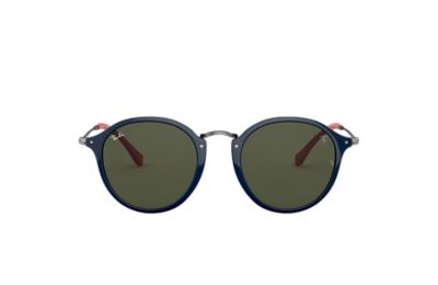 Ray-Ban RB2447MF SCUDERIA FERRARI COLLECTION Blue with Green Classic G-15 lens