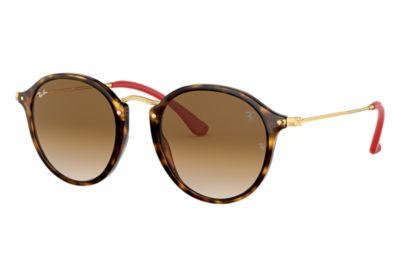 Cheap New Ray-Ban Rb2447nm Scuderia Ferrari Round Sunglasses for Men Online Sale