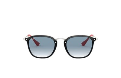 Ray-Ban RB2448MF SCUDERIA FERRARI COLLECTION Black with Light Blue Gradient lens