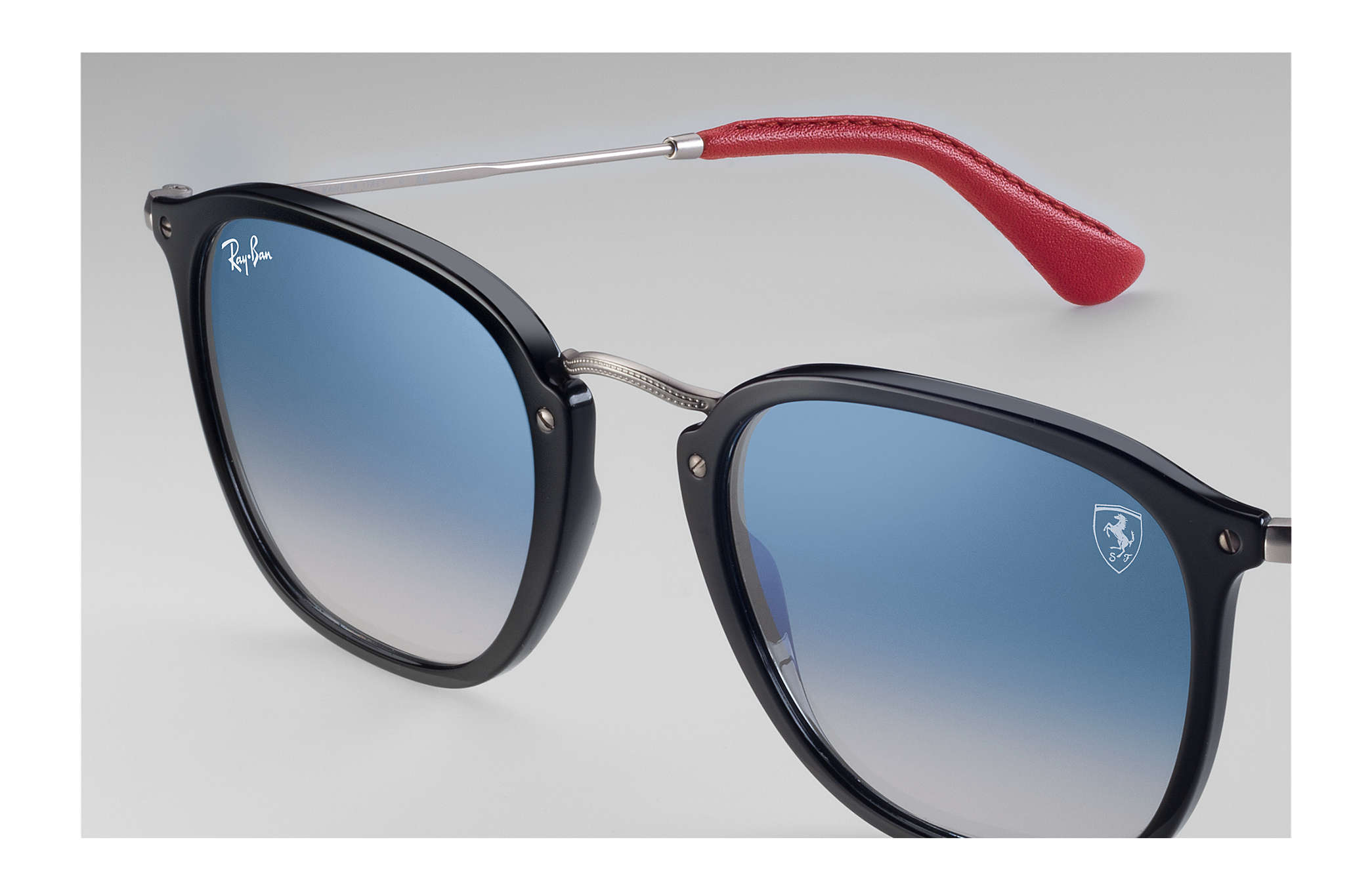 410cb84b2032c ... Ray-Ban 0RB2448NM-RB2448NM SCUDERIA FERRARI COLLECTION Black  Silver  SUN ...
