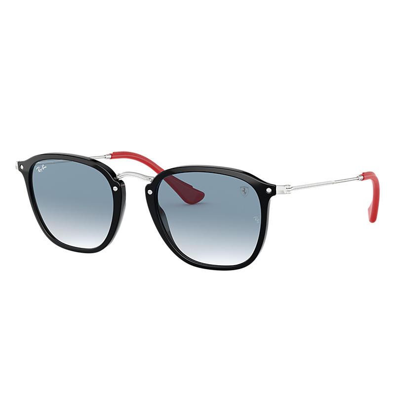 Ray-Ban Scuderia Ferrari Collection Silver Sunglasses, Blue Lenses - Rb2448nm