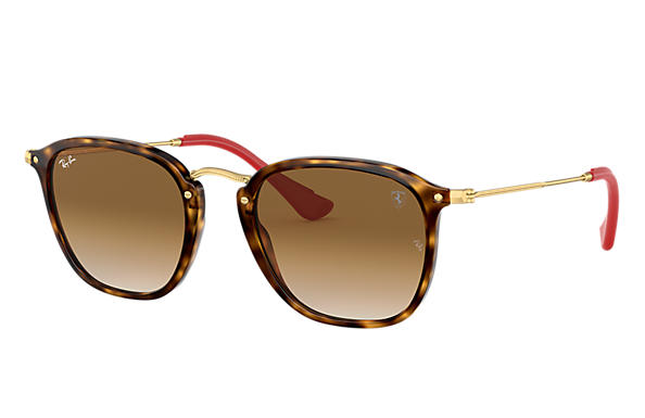 Ray-Ban 0RB2448NM-RB2448NM SCUDERIA FERRARI COLLECTION Havana; Gold SUN