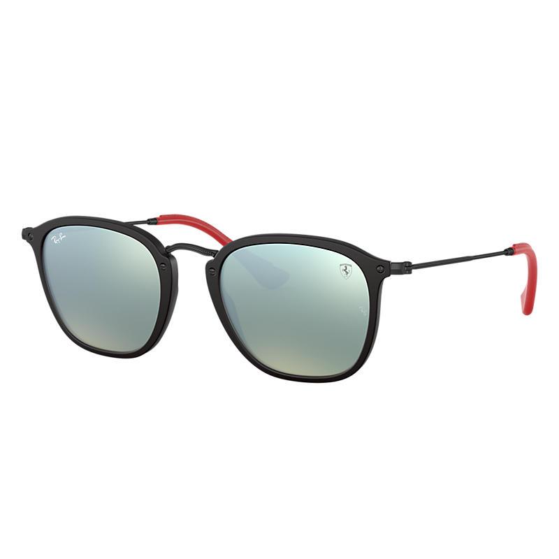 Ray-Ban Scuderia Ferrari Collection Black Sunglasses, Gray Lenses - Rb2448nm