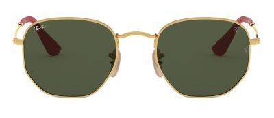 Ray-Ban RB3548NM SCUDERIA FERRARI COLLECTION Gold with Green Classic G-15 lens