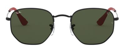 Ray-Ban RB3548NM SCUDERIA FERRARI COLLECTION Black with Green Classic G-15 lens