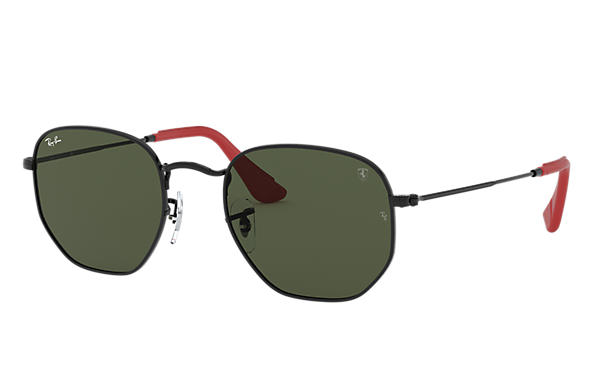 Ray-Ban Occhiali-da-sole RB3548NM SCUDERIA FERRARI COLLECTION Nero con lente Verde Classica G-15