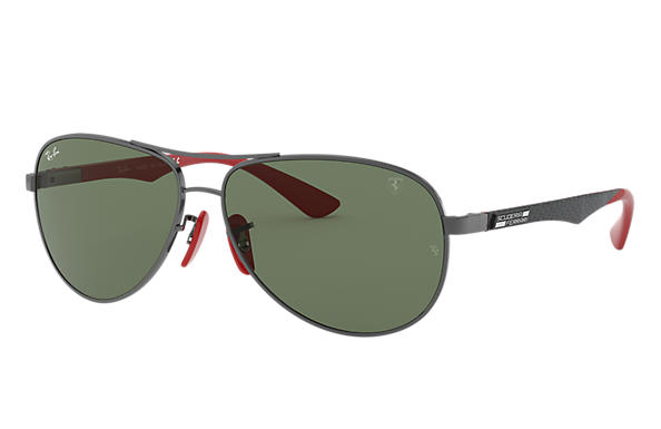Ray-Ban 0RB8313M-RB8313M SCUDERIA FERRARI COLLECTION Canna di fucile; Nero,Rosso SUN