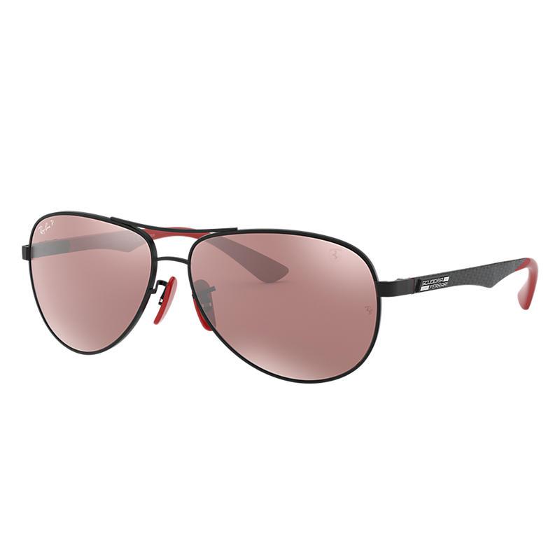 Ray-Ban Scuderia Ferrari Collection Black Sunglasses, Polarized Gray Lenses - Rb8313m