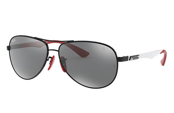 Ray-Ban 0RB8313M-RB8313M SCUDERIA FERRARI COLLECTION Negro; Negro,Rojo SUN