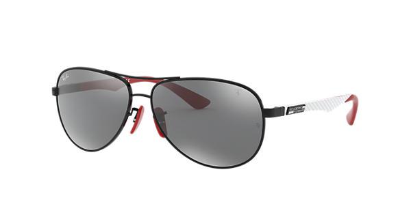 Rb8313m Scuderia Ferrari Collection Ray-Ban RB8313M Noir - Fibre de Carbon  - Verres Gris - 0RB8313MF0096G61   Ray-Ban® France 4d5c6e32bc7d